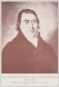 Portret van Jan Anthonie Sebastiaan van Spaendonck ( 1755-1831)