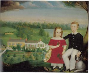 Portret van George en Emma Eastman