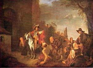 De H. Martinus van Tours deelt zijn mantel in tweeën