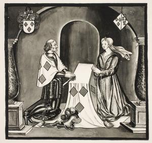 Dubbelportret  van Jacob van Woude (....-1344) en Elisabeth van Suylen ende Aenholt (....-....)