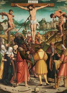 Golgotha (verso): Christus als Man van Smarten