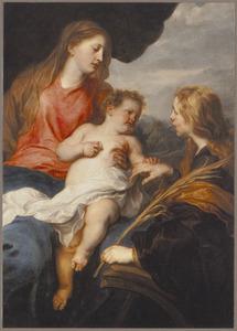 Het mystieke huwelijk van de heilige Catharina