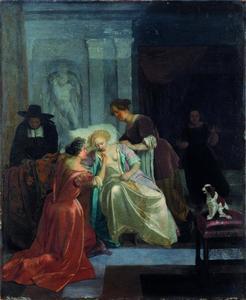 Bezoek van de dokter bij een liefdeszieke