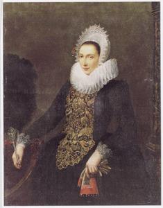 Portret van Geertruyd Hooft (1578-1636)