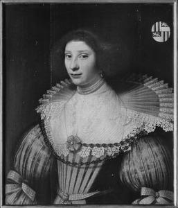 Portret van Geertruyd Huygens (1599-1680)