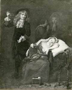 Een dokter bezoekt een zieke vrouw