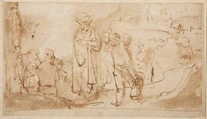 Abraham en Isaac op weg naar de offerplaats (Genesis 22:2-18)