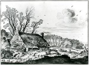 Boerderij in een landschap