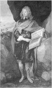 Portret van Sir John Suckling (1609-?) als Hamlet