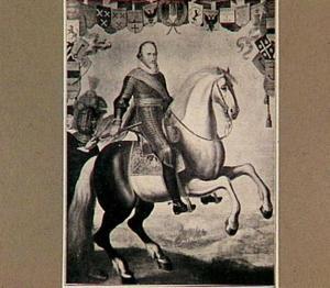 Ruiterportret van Maurits (1567-1625), prins van Oranje, stadhouder van Holland, Zeeland, Utrecht, Gelderland en Overijssel