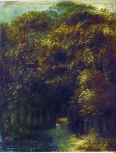 Ingang van een bos
