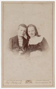Portret van François Armand Charles Snellen van Vollenhoven (1887-1963) en Françoise Armande Charlotte Snellen van Vollenhoven (1887-1957)