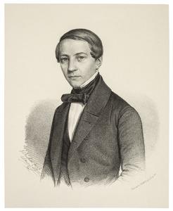 Portret van Martinus des Amorie van der Hoeven (1824-1868)