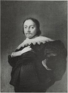Portret van een man, ten halven lijve, met zijn rechterhand in zijn zij