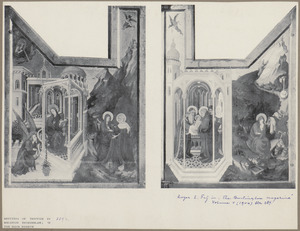 The Annunciation and The Visitation (exterior left wing); The Presentation in the Temple and The Flight into Egypt (exterior right wing)