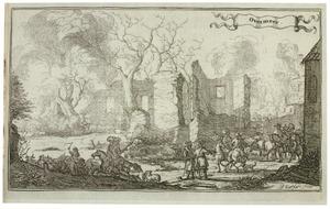 Ruïne van de buitenplaats Overmeer bij Nederhorst den Berg, na verwoesting door de Franse troepen in 1673