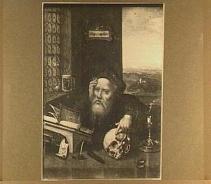H. Hieronymus in zijn studeervertrek