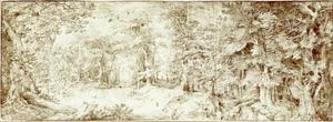 Moerasachtig boslandschap