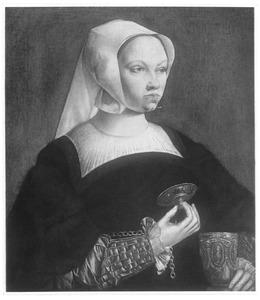 Portret van een vrouw als de H. Maria Magdalena