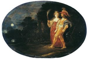 Aeneas wordt door de sibille van Cumæ naar de onderwereld geleid (Virgilius, Aeneis, VI)