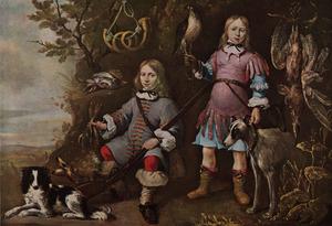 Portret van twee onbekende jongens