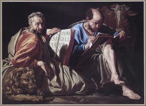 De evangelisten Marcus en Lucas