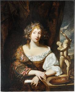 Portret van een vrouw: allegorie van de schilderkunst