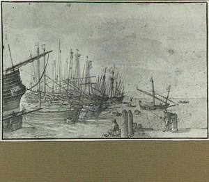 Zeilboten in een haven