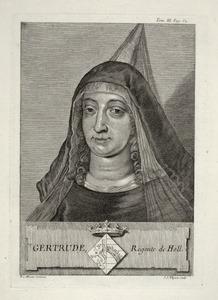 Portret van Geertruida van Saksen (1033-1115)
