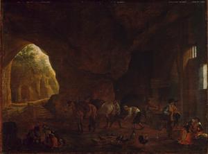 Smederij in een Romeinse ruïne