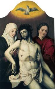 De dode Christus tussen Maria en Johannes