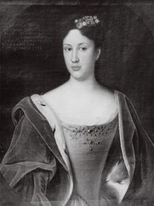Portret van Dorothe Sophie zu Solms -Braunfels (1699-1733)