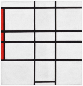 Composition - blanc et rouge: B