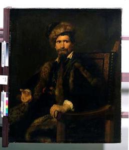 Portret van een onbekende man met een bontjas en bontmuts