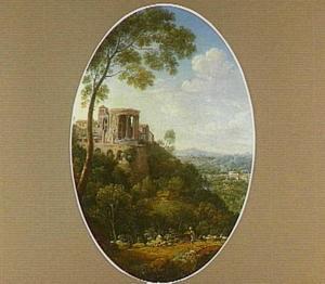 Gezicht op de tempel van Sibylle bij Tivoli