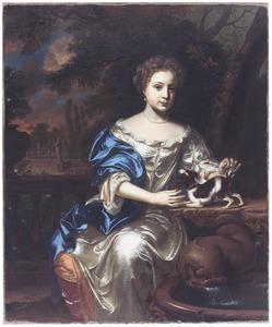 Portret van een vrouw, mogelijk Maria Simonides van Nijs (1677-1700)