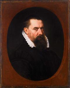 Portret van een man in een geschilderd ovaal
