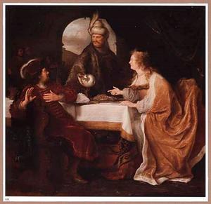 Ester beschuldigt Haman voor Ahasveros (Ester 7:1-7)