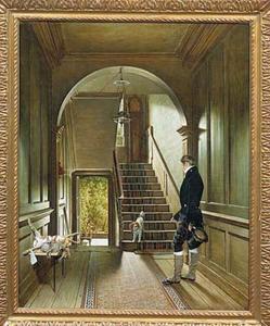 Het trappenhuis van de Londense woning van de schilder aan Great Marlboroughstreet no. 35
