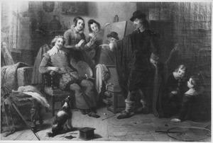Frans Hals herkent Antoon van Dyck in de anonieme bezoeker die zijn portret heeft geschilderd