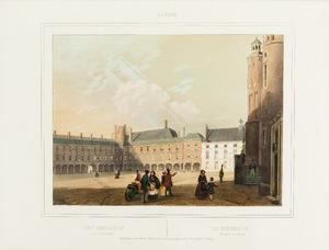 Gezicht op het Binnenhof te Den Haag