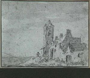 Gebouw met toren aan de kust