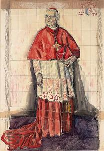 Portret van kardinaal W.M. van Rossum (voorstudie)