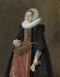 Portret van Aletta Hanemans (1606-1653)