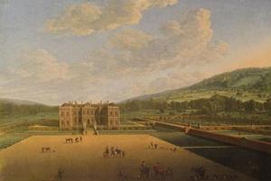 Gezicht op Althorp in 1677