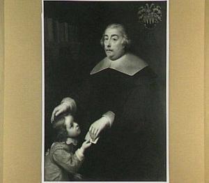 Portret van een onbekende man met een onbekend kind