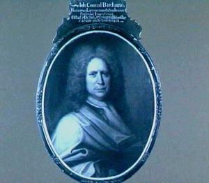 Portret van Johann Conrad Barchusen (1666-1723), hoogleeraar Chemie in Utrecht 1703-1723