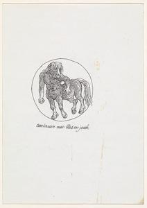 Brief aan Ferry en Willem den Ouden met centaur