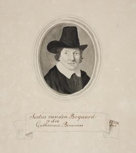 Portret van Justus van den Bogaard (1623-1663)