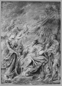 De geboorte van de dauphin, de latere Lodewijk XIII, op 27 september 1601 te Fontainebleau